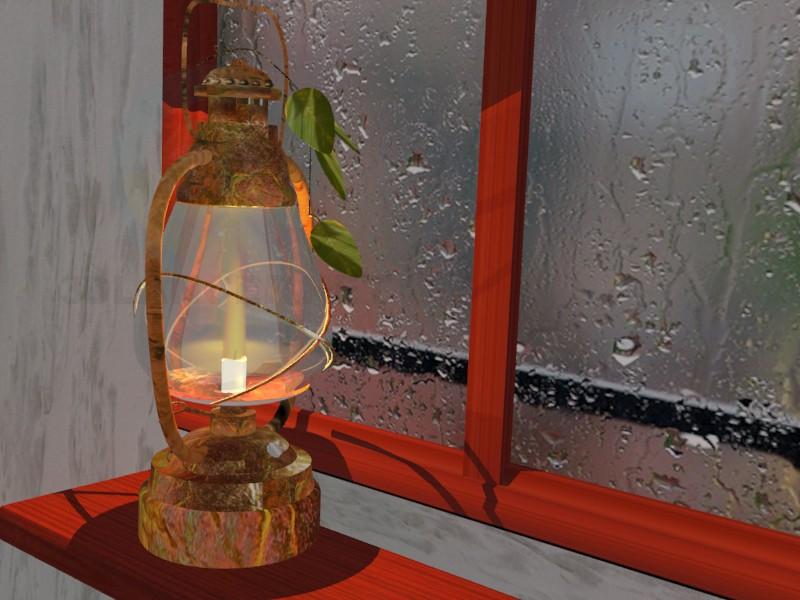 3d модель гасова лампа – превью