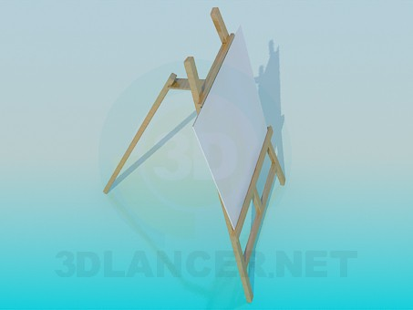 modelo 3D Dibujo de bastidor - escuchar