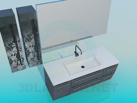 3d model Furniture washbasin - preview