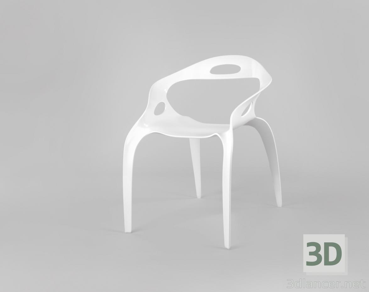 3d Plastic chair model buy - render