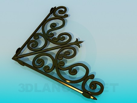 3d model Forged element - preview