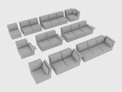 Elements of a sofa modular NOBU