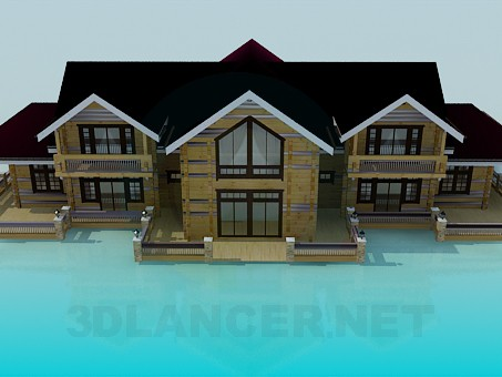 descarga gratuita de 3D modelado modelo Casa de campo con registro