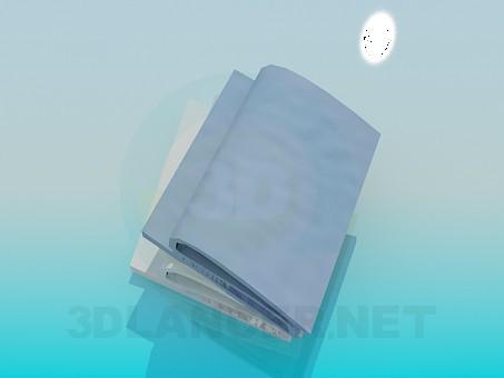 3d модель Сложенные полотенца – превью