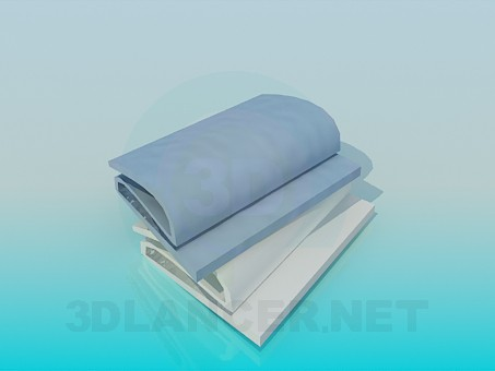 3d model Folded towels - preview