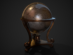 Globe médiéval Modèle 3D low-poly gratuit