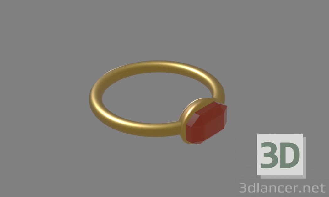 3d ring with rubin model buy - render