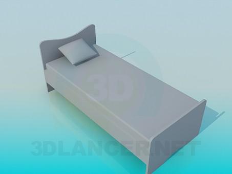 3d модель Дитяче ліжко – превью