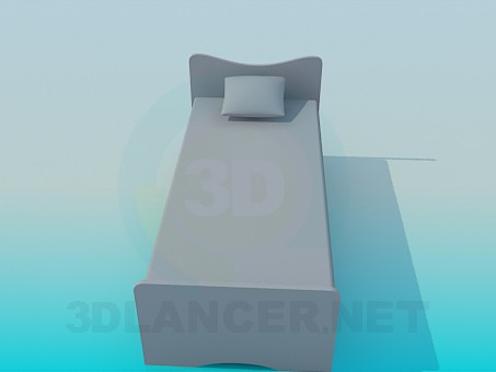 3d model Bed for a child - preview