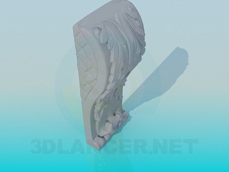 3d model Plaster decoration - preview