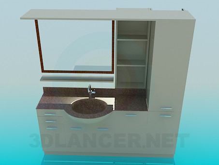3d modeling The furniture in the bathroom model free download