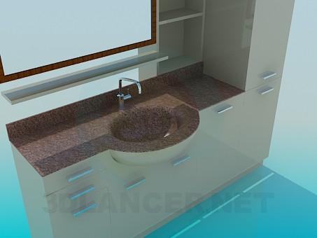 3d модель Мебель в ванную – превью