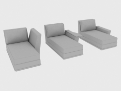 Sofa elements modular (couch) NOBU
