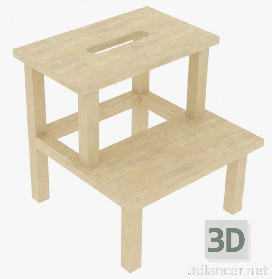 3d model Ladder stool - preview