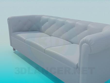 modelo 3D Un sofá pequeño - escuchar