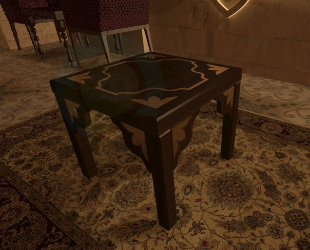 3d model Oriental table 1 - preview