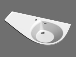 Washbasin Avocado Comfort L