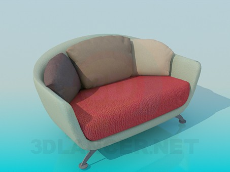 3d modeling Chair-sofa model free download