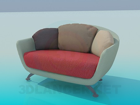 3d model Chair-sofa - preview