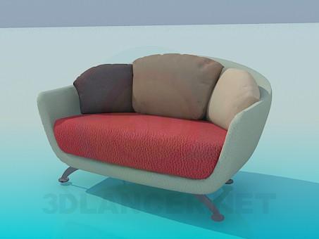 modelo 3D Silla-sofá - escuchar