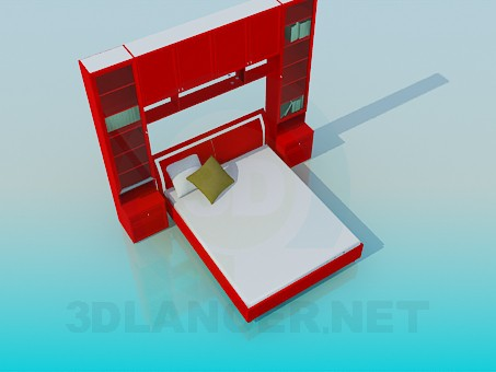 3d model Red Bed - preview