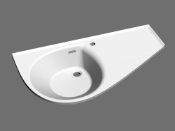 Washbasin Avocado Comfort R