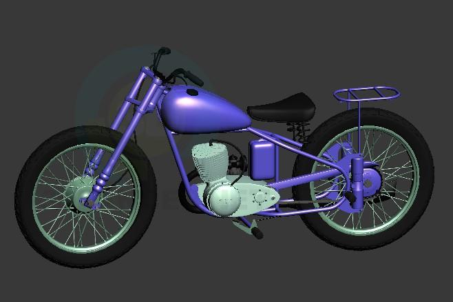 Modelo 3d Moto BSA - preview
