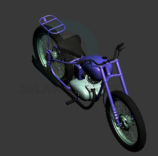 modelo 3D Moto BSA - escuchar