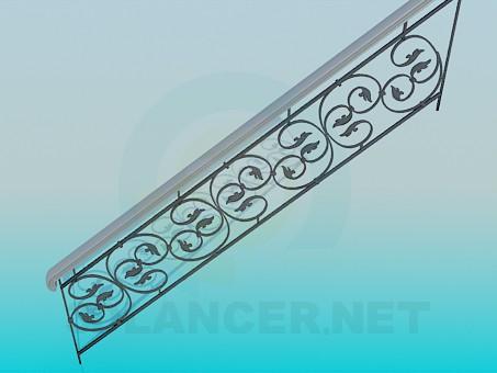 3d модель Кованная часть лестницы – превью
