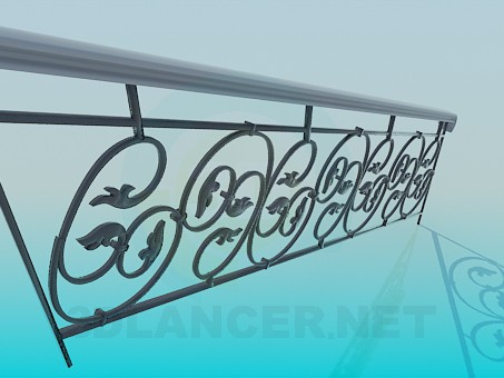 3d model Wrought iron stair part - preview