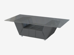 Coffee table with leather trim J238
