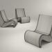 3d VITRA Amoebe chair model buy - render