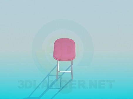 modelo 3D Taburete alto - escuchar