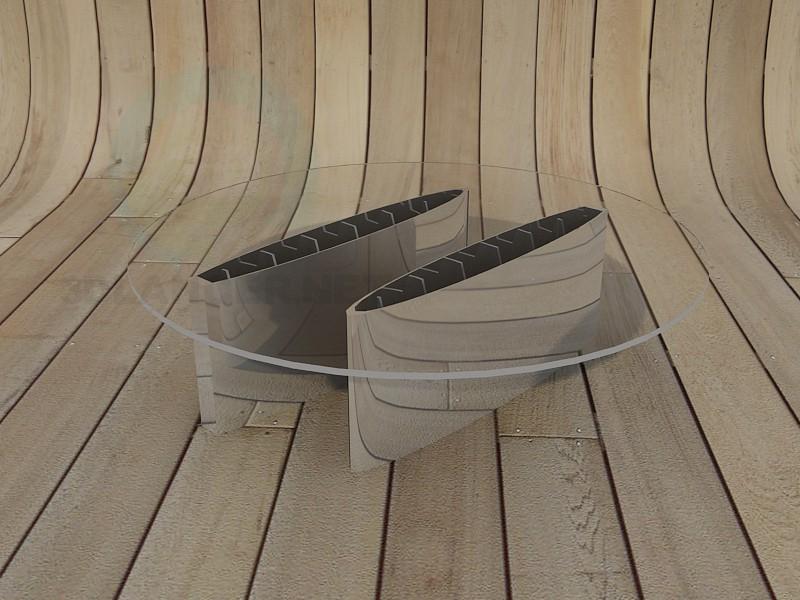 3d модель Кавовий столик – превью