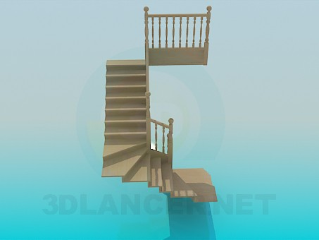 3d model Stairway to house - preview