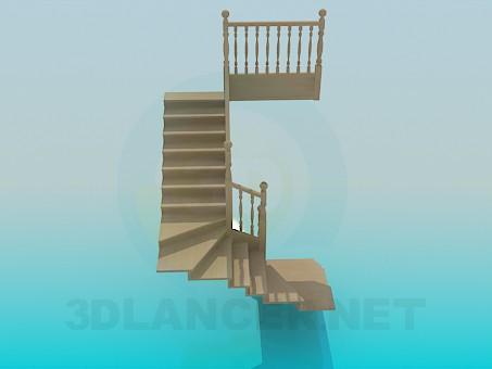 3d моделирование Лестница в дом модель скачать бесплатно