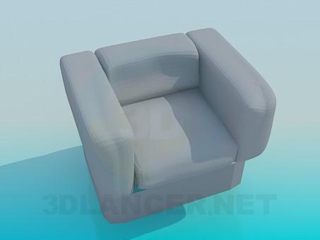 3d модель Массивное кресло – превью
