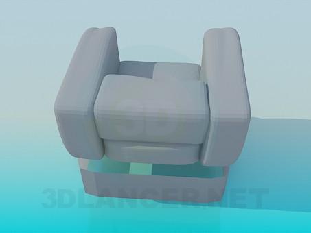 3d model Massive armchair - preview
