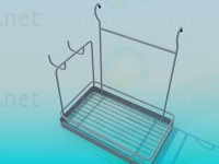 3d model Rack for the kitchen - preview