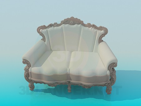 3d model Sofa barroco - vista previa