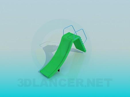 3d модель Пластиковая горка – превью