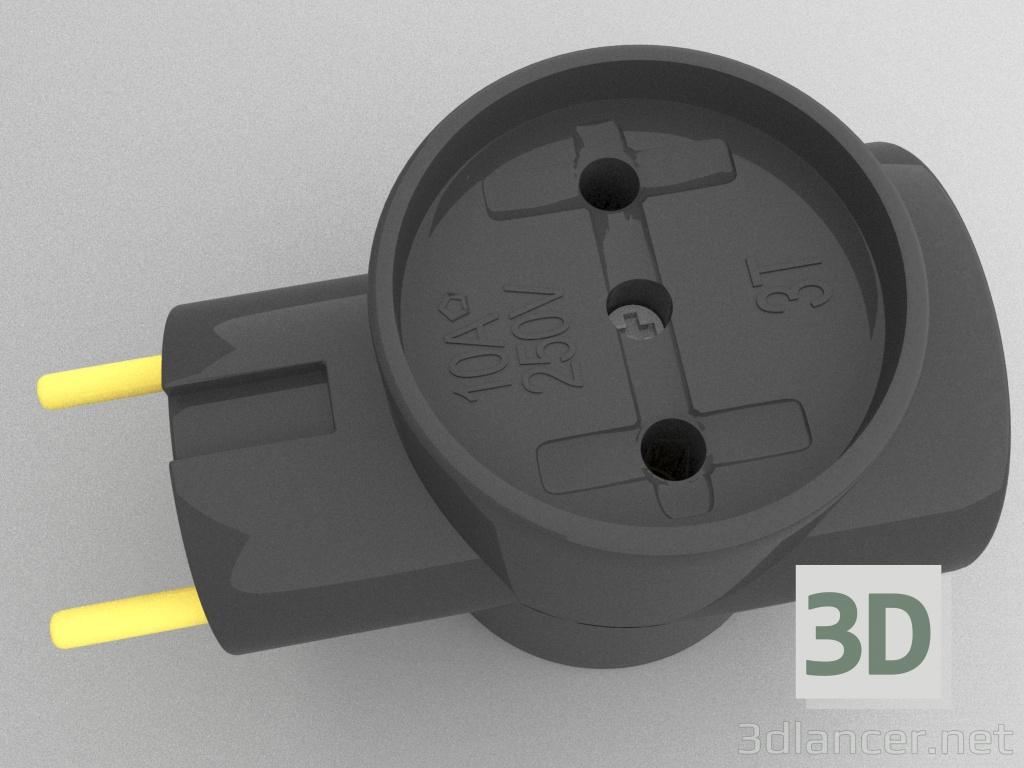 3d model Triple splitter - preview