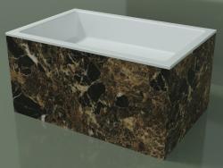 Vasque à poser (01R142301, Emperador M06, L 72, P 48, H 36 cm)