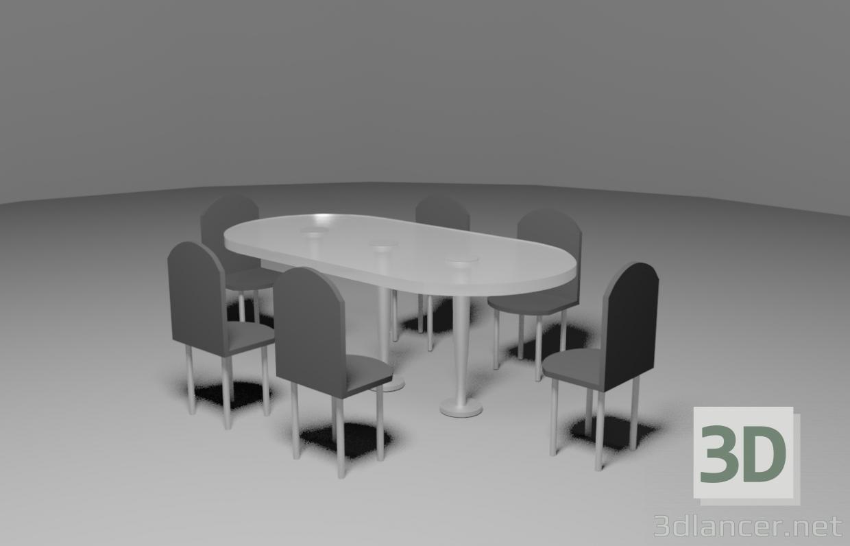 3d Lunch group model buy - render