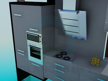 modelo 3D Cocina - escuchar