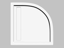 Palette halbkreisförmig mit linearem Ablauf 90 cm Minimal (KTM 051B)