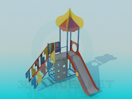 3d model Children's slide - preview