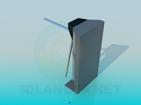 3d model Turnstile to pass - preview