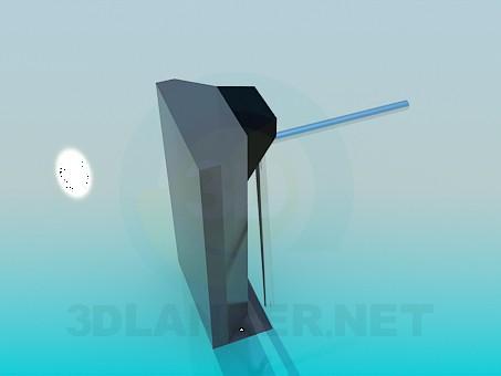 3d модель Турникет для проходной – превью