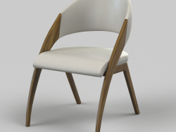 Modern table chair cream Modrest Lucas